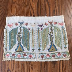 Weeping Willow, Willow Tree, Floral Ribbon, Embroidered Towels, Cypress Trees, Sewing Notions, Fabric Panels, Textiles, Decoration