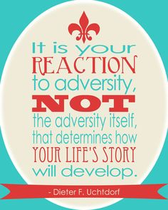 It's your reaction that determines...