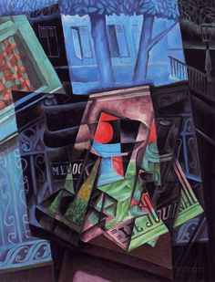 Still Life before an Open Window by Juan Gris