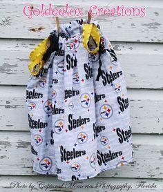 Pittsburg Steelers Fabric Pillowcase Dress by GoldeeloxCreations, $18.00
