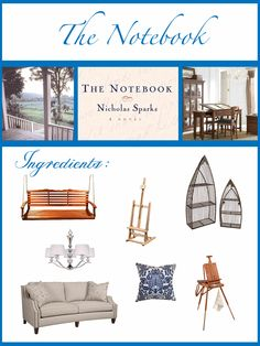 Home Decor Inspired by The Notebook. Love!