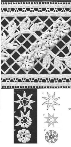 IRISH CROCHET LACE--looks more like Romanian point lace to me. Not sure that I've ever seen this braid in Irish crochet before Picot Crochet, Crochet Diy, Crochet Diagram, Freeform Crochet, Crochet Chart, Thread Crochet, Crochet Doilies, Crochet Flowers, Crochet Ideas