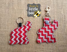 elephant silhouette like alabama key fob AND snap tab keychain embroidery design sew pes exp +more Instant Download! bean stitch, monogram