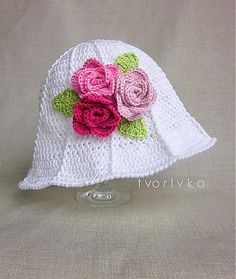 Ravelry: tvorIvka's Flowery hat with roses, crochet, free pattern, cloche, spring, flower