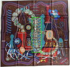 PHOTOS HERE - Hermes scarf designs indexed by title - artist - theme - year - color - search by keyword - tag - album for identification & reference. Ways To Tie Scarves, Silk Scarves, Pierre Marie, Turquoise Clothes, Bandana Design, Breton Stripes, Crisp White Shirt, Designer Scarves, Scarf Design