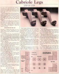 #1824 Making Cabriole Legs - Furniture Legs Construction