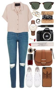 """""""Untitled #827"""" by clary94 ❤ liked on Polyvore featuring Topshop, Rachel Comey, Superga, MICHAEL Michael Kors, Daniel Wellington, Ray-Ban, Yves Saint Laurent, NARS Cosmetics, House of Harlow 1960 and Natural Life"""