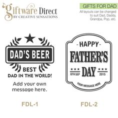Personalised Engraved 500ml Fathers Day Beer Mug