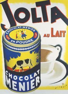 publicité ancienne chocolat menier Jolta au lait