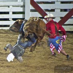 8 Seconds. That's how long you have to hold on in a rodeo... and when the bull is over the rider, his life is in the hands of a clown. Sounds strange but that's the show at the rodeo.