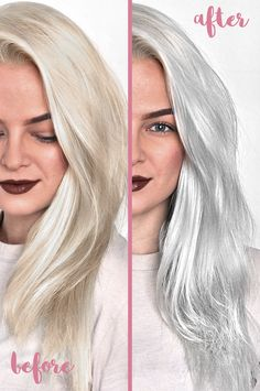 Top 5 Best Sulfate Free Purple Shampoos To Tone Blonde Hair Say goodbye to brassy or yellow hair and hello to beautiful platinum blonde or silver hair thanks to these awesome sulfate free purple shamp Blond Shampoo, Lila Shampoo, Shampoo For Gray Hair, Blonde Hair Purple Shampoo, Ombre Hair, Best Silver Shampoo, Blonde Hair Care, Wavy Hair, Silver Blonde Hair