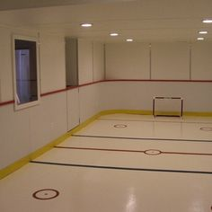 Hockey Rink In Basement Design Ideas, Pictures, Remodel, and Decor