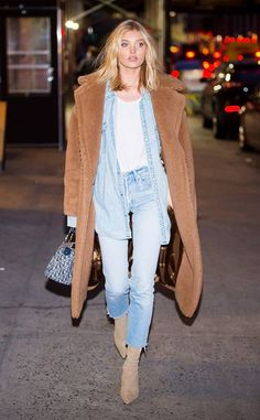 8 autumn essentials to sting Elsa Hosk - Street style - Fall Outfit Fashion Week, Look Fashion, Daily Fashion, Teen Fashion, Fashion Outfits, Womens Fashion, Fashion Trends, Denim Outfits, Classy Fashion