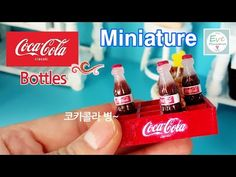코카콜라 병 만들기 ✔미니어쳐 Miniature Coca-cora bottles ✔ with polymer clay Tutorial ▼이브미니어쳐 유튜브 구독 하기: http://www.youtube.com/subscription_center? --------------------...