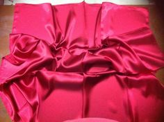 TURKISH QUALITY SILK SATIN 37   SQU SCARF/HIJAB/TURBAN/SHAWL FOULARD RED