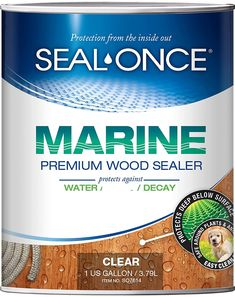 SEAL-ONCE MARINE - 1 Gallon Penetrating Wood Sealer, Waterproofer & Stain. Water-Based, Ultra-low VOC formula for high-moisture areas to protect wood docks, decks, piers & retaining walls.: Hardware Sealers: AmazonSmile: Tools & Home Improvement Best Deck Sealer, Deck Stain And Sealer, Best Deck Stain, Wood Sealer, Exterior Wood Stain, Marine Grade Plywood, How To Waterproof Wood, Cool Deck, Boat Dock