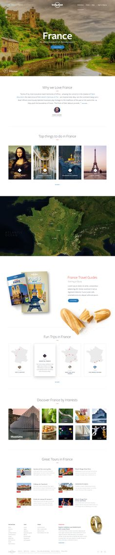 Lonely Planet - Ui redesign concept for country page by UENO.