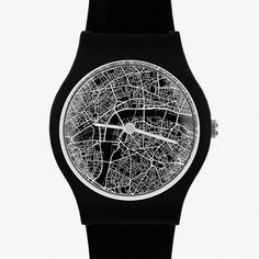 3:10 PM London Map (54 NZD) ❤ liked on Polyvore featuring jewelry, watches, accessories, water resistant watches, water proof watches, waterproof watches and may28th