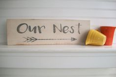 Our Nest Sign . Cottage Decor . Bless Our Nest by RessieLillianToo