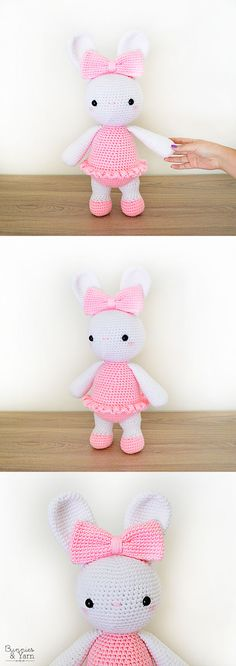 CROCHET PATTERN - Laurie the Ballerina Bunny - Amigurumi Rabbit