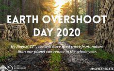 #EarthOvershootDay In vita mia mai avrei pensato di vedere un balzo così 😲! Nella Giornata mondiale dell'#ambiente 🌱 è stato annunciata la data dell'#OvershootDay il giorno dell'anno in cui avremo esaurito le #risorse messe a disposizione dalla Terra e riprenderemo a indebitarci col Pianeta🌏. Quest'anno la data sarà il 22 agosto! Per la prima volta dopo decenni arretra davvero. L'anno scorso è stato 31 luglio. In pratica se fino all'anno scorso si calcolava ci servissero circa 1.8 Terre🌏🌎, Earth Overshoot Day, August 22, Our Planet, Social Media, Nature, Poster, Outdoor, Environment, Graz