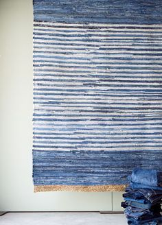 recycled denim rug