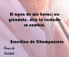 Frases de besos de Ernestina de Champourcín