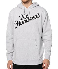 A classic black The Hundreds slant script logo graphic at the chest provides iconic style with a fleece lining for comfort.