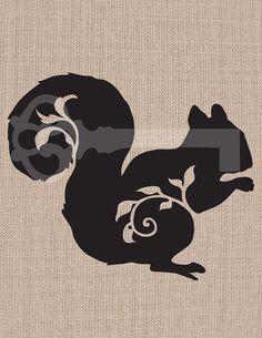 filigree squirrel original illustration digital by TanglesGraphics, $1.00