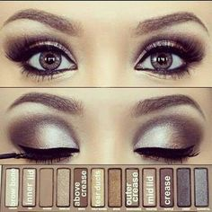 Urban Decay Naked Palette Makeup... Reminds me of you! @Shaelynne Miller Except your makeup isn't as much as this