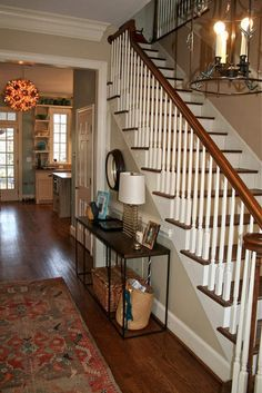Colonial Home Interiors staircases that are painted my favorite shade of grey. a little