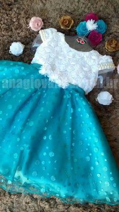 Vestido de Festa Infantil Princesa Elza Frozen