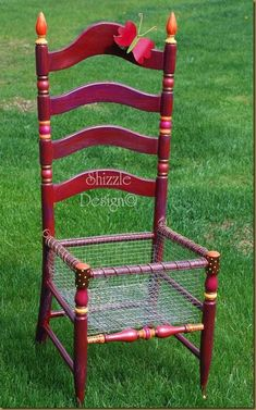 DIY Chair Turned into Planter - @Cheri Edwards Edwards Sivils