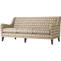 Studio Q Furniture Brodie Sofa in Grade 4 Fabric Frame Finish: Amber Cherry, Upholstery: Fabric Latte