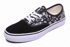 Vans Authentic Floral Little Flowers Black Men's Shoes #Vans