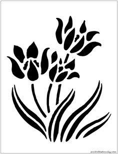 plant stencil - Google Search