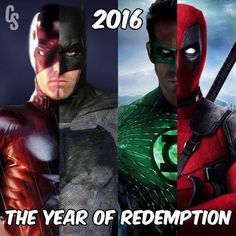 Ben Affleck as Daredevil and Batman, Ryan Reynolds as Green Lantern and Deadpool -