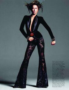 Raquel Zimmermann by Inez & Vinoodh for Vogue Paris November 2011 - lace pants