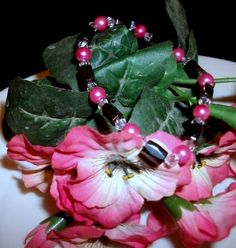 Hot Pink Pearl and Hematite Bracelet by Culbertscreations on Etsy, $15.00