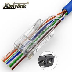 Buy xintylink EZ connector rj 45 ethernet cable plug utp cat 6 network unshielded 50 100 pcs with holes Cable One, Nickel Plating, Gold Plating, Digital Cable, Computer Backpack, Plugs, Free Shipping, Fun Gadgets, Office Fun