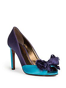 992977d6823c Lanvin - Satin Peep-Toe Pumps ( ) Shoes World