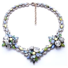 Serenity Blue Statement Necklace (€53) ❤ liked on Polyvore featuring jewelry, necklaces, blue statement necklace, nickel free jewelry, long blue necklace, statement necklaces and blue jewelry