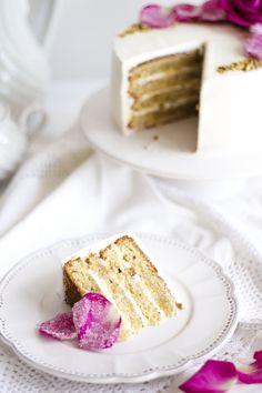 Pistachio Rose Cake