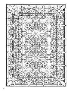 Dover Decorative Tile Coloring Book Abstract Doodle ... - photo#6