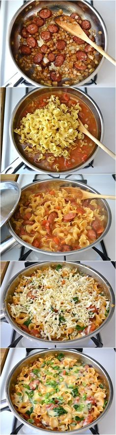 Best Recipes, #12 Creamy Sausage and Spinach Pasta Skillet