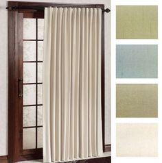 Great For Dressing Up The Sliding Glass Door! Fontaine Back Tab Patio  Curtain Panel In
