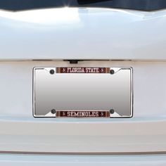 florida state seminoles jersey small over small metal acrylic cut license plate frame 1999 - Michigan State License Plate Frame