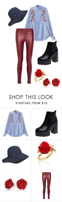 """""""Rosey Posey"""" by yoshicutie on Polyvore featuring Karen Kane, Disney Couture, Bling Jewelry and Helmut Lang"""