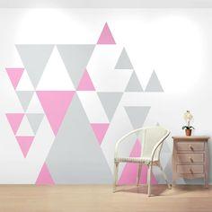 waende gestalten wandgestaltung farbgestaltung dreiecke