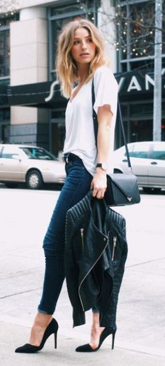 street style black white casual